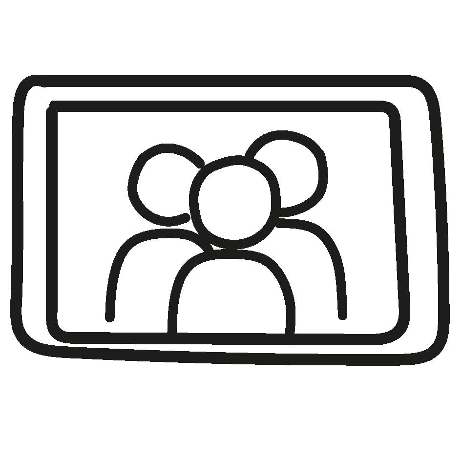 Icon Tablet mit Personen