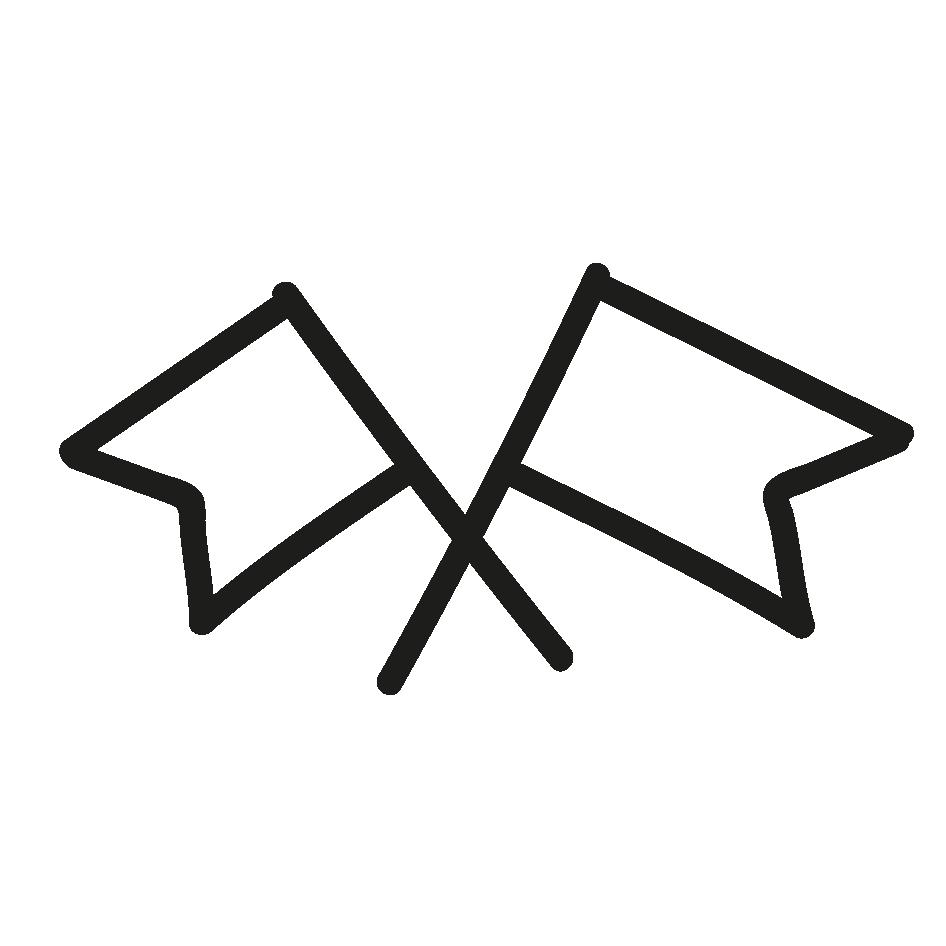 Icons mit Fahnen